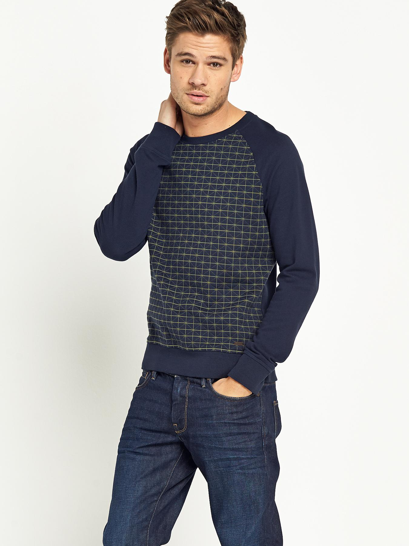 Boss Orange Mens Wanton Long Sleeve Sweatshirt - Navy, Navy