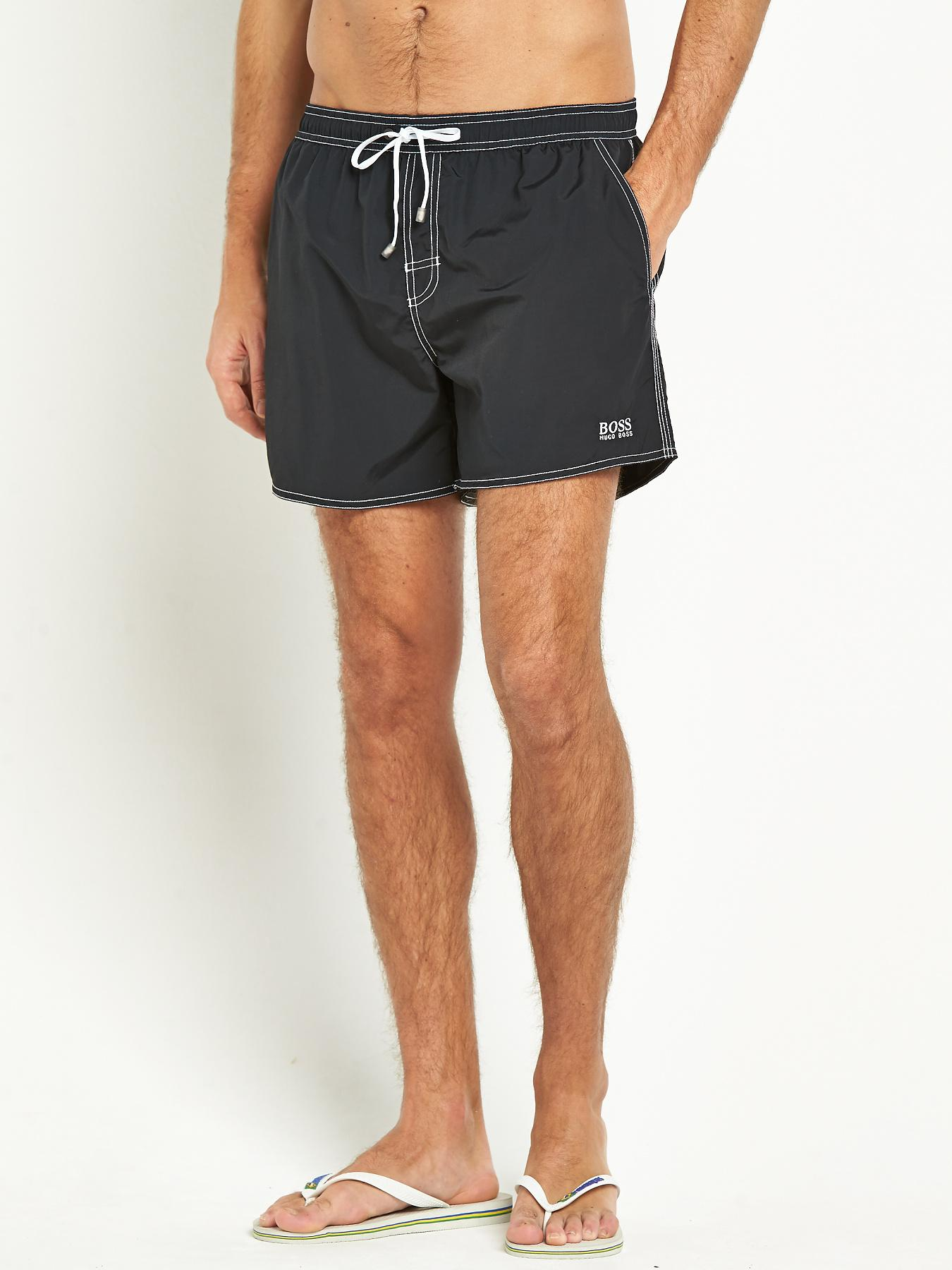 Hugo Boss Mens Lobster Swim Shorts - Black, Black