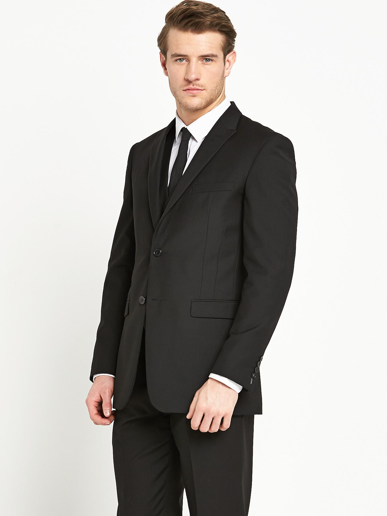 Skopes Mens Madrid Suit Jacket - Black, Black
