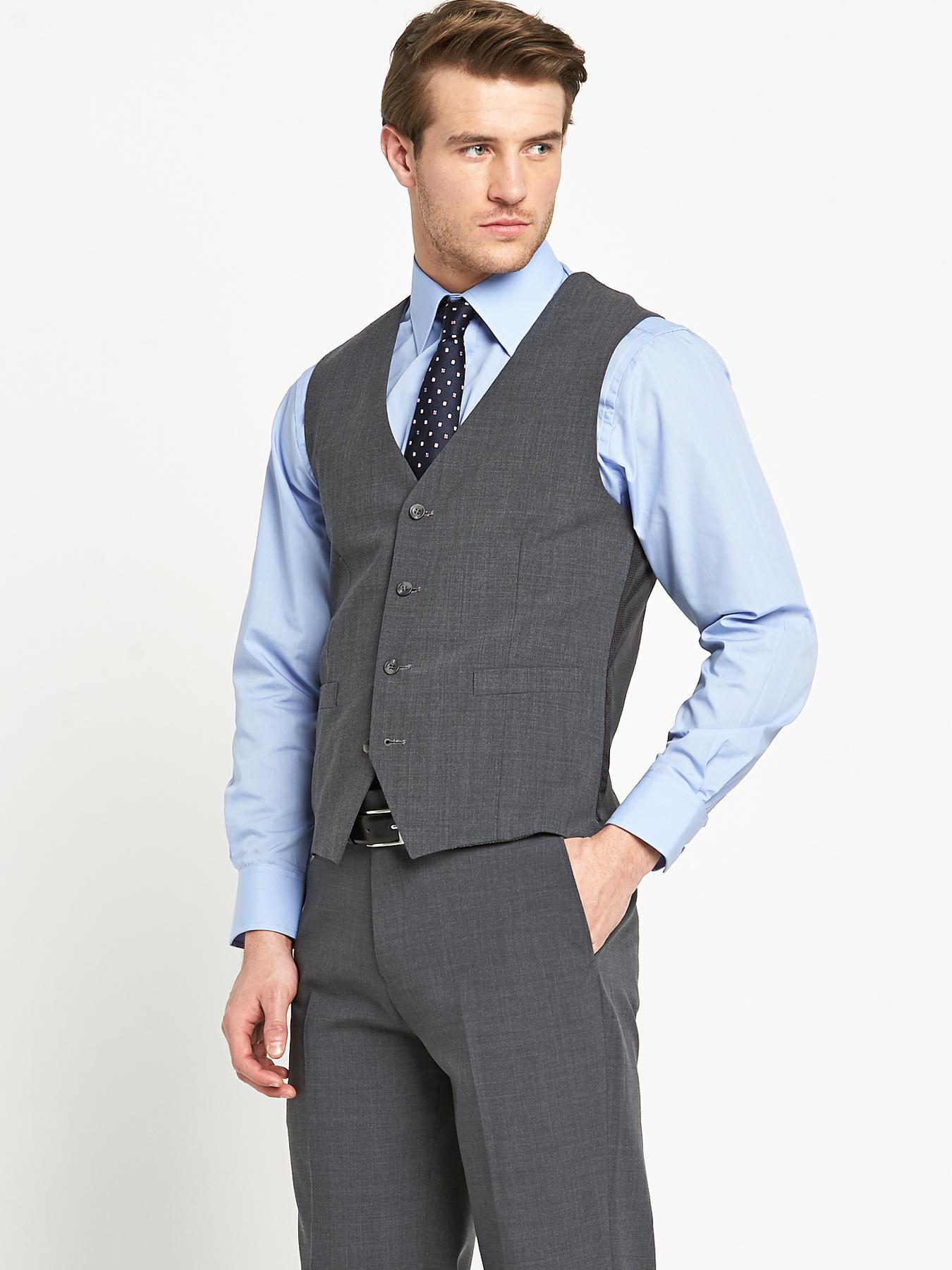 Skopes Mens Otis Suit Waistcoat - Grey - Grey, Grey