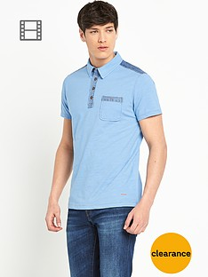 boss-orange-mens-denim-panelled-trim-polo-shirt