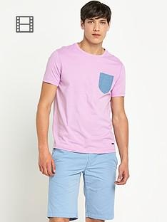 boss-orange-mens-argyll-print-shirt-with-denim-pocket