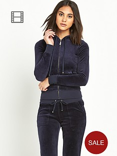 juicy-couture-j-bling-zip-through-velour-hoody-navy