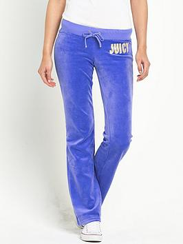 Juicy Couture Stagelights Logo Jogging Bottoms - Bluebell