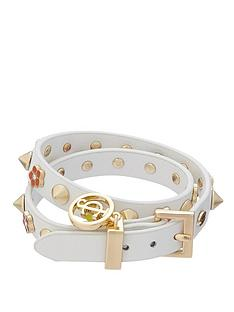 juicy-couture-flower-studded-white-leather-double-wrap-bracelet