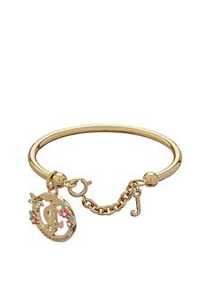 juicy-couture-gold-tone-floral-charm-bangle