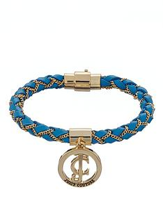 juicy-couture-island-blue-leather-braided-wrap-bracelet