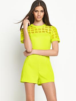 river-island-amy-cage-playsuit-yellow