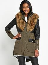 Faux Fur Power Parka