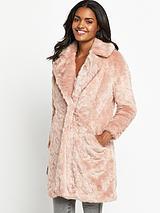 Collossal Pink Fur Coat