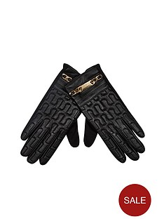 river-island-embossed-leather-glove