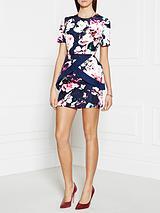 Pursuit Floral Dress - Multi Navy