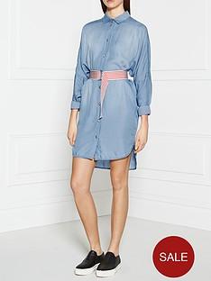pinko-potenziabilita-shirt-dress-blue