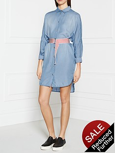 pinko-potenziabilita-shirt-dress-blue