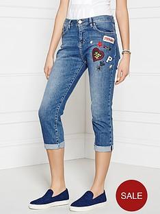pinko-mickey-cropped-boyfriend-jeans-blue