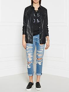 pinko-rubens-leather-look-shirt-black