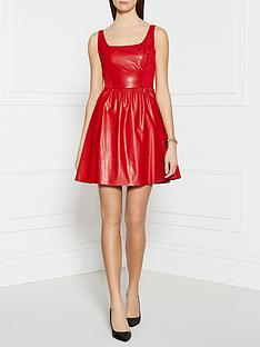 pinko-inchiostro-dress-red