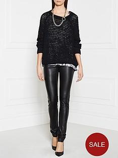 american-vintage-lara-open-knit-jumper-black