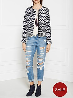 maison-scotch-tribal-zigzag-biker-jacket-navyblack