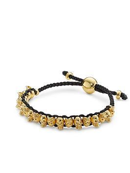 links-of-london-skull-friendship-bracelet-gold