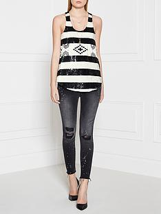 pinko-scultura-sleeveless-top-blackwhite