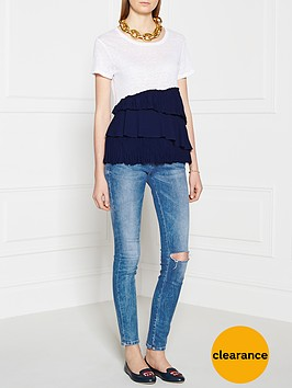 pinko-basamento-fringed-t-shirt-white