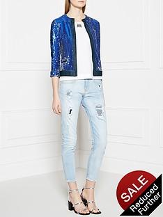 pinko-neoclassicismo-jacket-blue