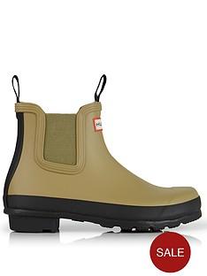 hunter-original-original-chelsea-two-tone-boots-khaki
