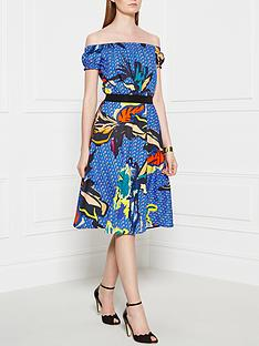 pinko-zoologo-dress-blue
