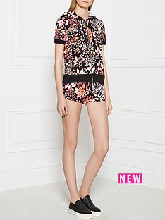 juicy-couture-ever-after-floral-short-sleeve-hoodie-pink-multi