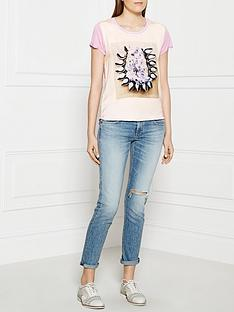 maison-scotch-digital-print-t-shirt-pink
