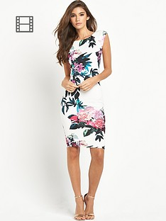ax-paris-tropical-floral-print-midi-dress