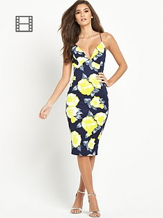 ax-paris-strappy-yellow-floral-midi-dress