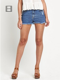 river-island-high-waist-denim-shorts
