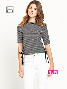 river-island-stripe-tie-side-t-shirt