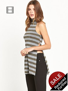 river-island-stripe-roll-neck-top