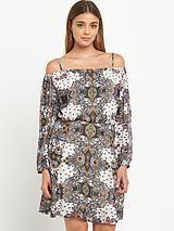 Paisley Print Bardot Waisted Dress