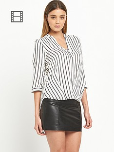 river-island-stripe-wrap-blouse