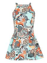 Girls Print Trapeze Dress