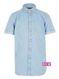 river-island-boys-short-sleeve-denim-shirt-light-wash