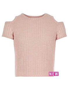 river-island-girls-cold-shoulder-t-shirt
