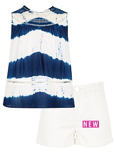 river-island-tye-dye-vest-and-white-short-set