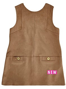 river-island-mini-girls-faux-suede-shift-dress-with-pockets