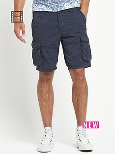 river-island-mens-blizzard-cargo-twill-shorts