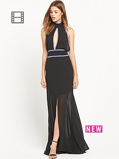 ppq-cream-label-evening-split-front-dress-black