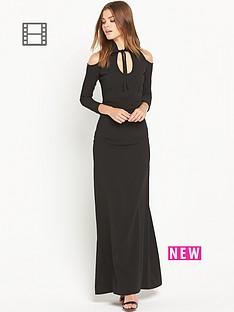 ppq-cream-label-gothic-inspired-maxi-dress-black