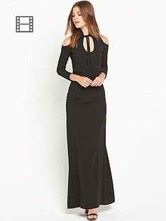 ppq-cream-label-gothic-inspired-maxi-dress-black