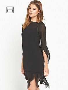 ppq-cream-label-ppq-slashed-neck-fringe-tunic-black