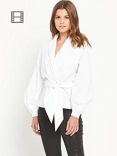ppq-cream-label-wrap-front-blouse-white