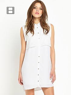 river-island-cream-lace-sleeveless-shirt-dress